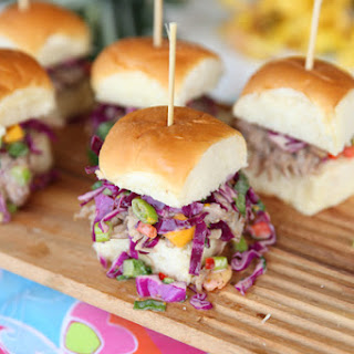 Kalua Pork Sliders with Pineapple-Mango Slaw