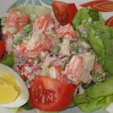 Mock Crab Louis Salad for Two
