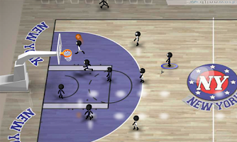Screenshot of Stickman Basketball