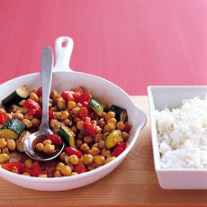 Spiced Chickpea and Zucchini Saute