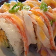 Crab, Avocado and Mango Roll