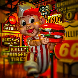Big Boy Standing Out at the Sign Museum by Pat Lasley - Buildings & Architecture Statues & Monuments ( pop culture icon, signs, statue, suseum, big boy, museum )