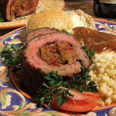 Steak Pinwheels W/ Sun-Dried Tomato Stuffing
