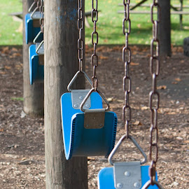 Swings by Leah Danker - City,  Street & Park  City Parks ( playground, park, still life, swings, fun )