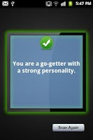 Screenshot of Personality Test Scanner App