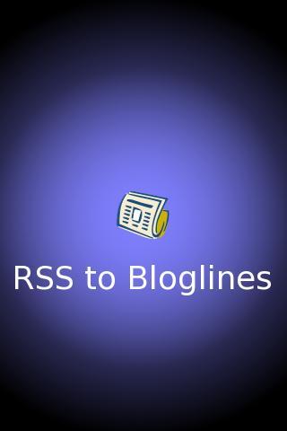 RSS to Bloglines