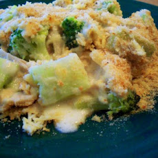 Layered Turkey and Broccoli Gratin
