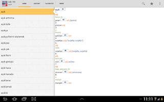 Screenshot of Croatian<>Turkish Dictionary T