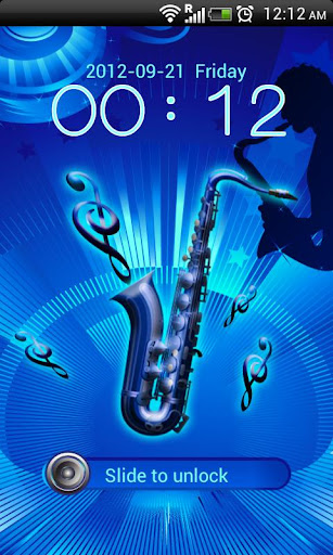 GO Locker Blue Saxophone Theme