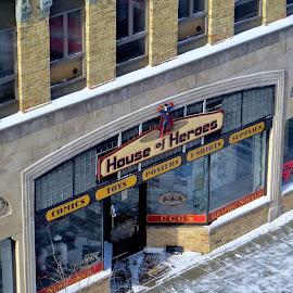 House of Heroes by Erin Czech - City,  Street & Park  Markets & Shops ( shop, store, oshkosh, comics, downtown )
