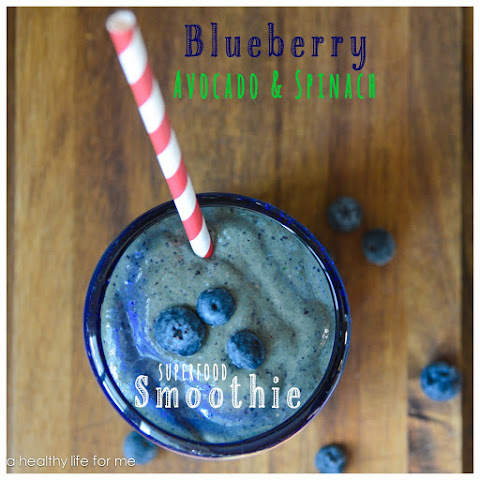 Blueberry Avocado and Spinach Smoothie