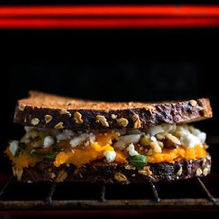 Grilled Feta and Roasted Squash Sandwich