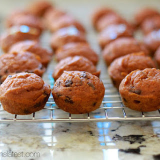 Skinny Mini Pumpkin Chocolate Chip Muffins