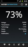 Screenshot of Beer Battery Widget