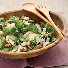 Raw Kale Salad with Gouda, Pear, and Walnuts