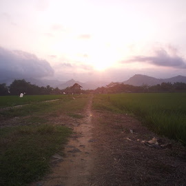 by Herman Bagus - Instagram & Mobile Instagram ( sunset, at, road, field, fotonesia, instanusantara, nature, beautiful )