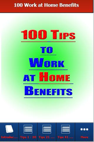 How to Work at Home Benefits