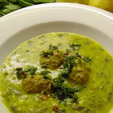 Middle Eastern Lamb and Spinach Soup