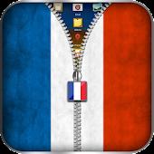 France Flag Zipper Lock APK for Bluestacks