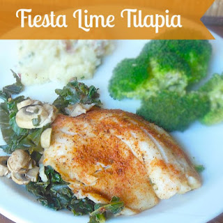 Foil Wrapped Fiesta Lime Tilapia with Mushrooms & Kale