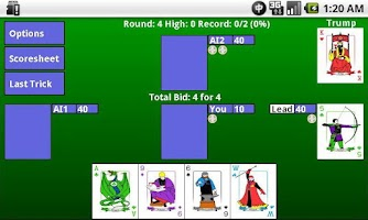 Screenshot of WIZARD Card Game