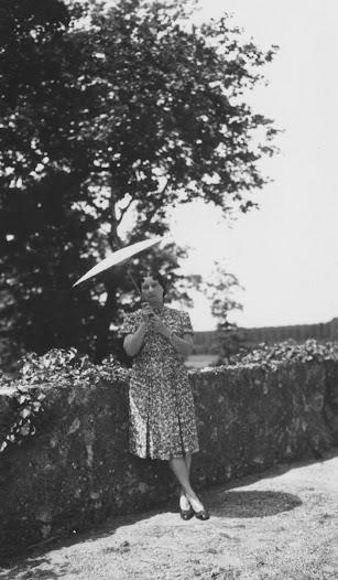 Clotilde Brière in France, June 1945.