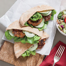 Lamb and Red Pepper Pita Sandwiches