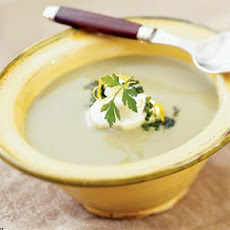 Artichoke Bisque with Parsley-Lemon Gremolata