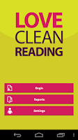 Screenshot of Love Clean Reading