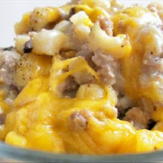 Macaroni and Cheddar Cheese Beef Bake