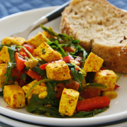 Spinach or Arugula Scrambled Tofu