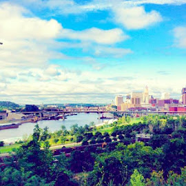 A View of Saint Paul, Minnesota by Andrew Lonergan - City,  Street & Park  Skylines ( minnesota, twin cities, saint paul, summer, city life, travel, dreamtrips, travel photography, city skyline )