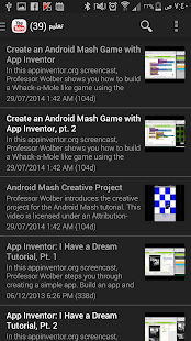 Learning android apps - screenshot