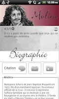 Screenshot of Les citations de Moliere