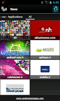Screenshot of Iranian applications