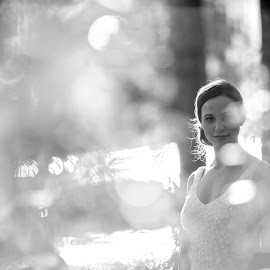 by Tammy N William Bunn - Wedding Bride ( bridal, wedding, black & white, bride )