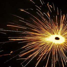 Wheel of FIRE by Surojit Ghosal - Abstract Fire & Fireworks ( diwali, fireworks, festival, abstract photography, motion, slow shutter )