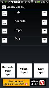 Shopping List-Zen Simple - screenshot