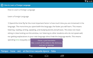 Screenshot of English with LinguaLeo