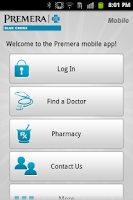Screenshot of Premera Mobile