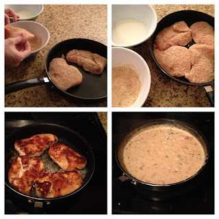 Skillet Basil Cream Chicken