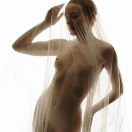 Shy by Vineet Johri - Nudes & Boudoir Artistic Nude ( art nude lighting workshop london, art nude, anita de bauch, vkumar photography, transparent, fabric )