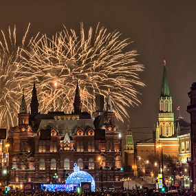 NY 2015 Firework by Alex Shanti - Public Holidays New Year's Eve ( russia, firework, new year, 2015, moscow, fireworks, long exposure, night,  )
