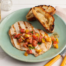 Chicken Paillards with Herb-Tomato Salad