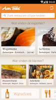 Screenshot of À Table - Find a Restaurant