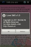 Screenshot of Love SMS