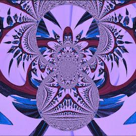 Sky Blue Pink by Yvonne Collins - Digital Art Abstract ( edited, abstract, digital art, sky blue pink, photography,  )