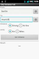 Screenshot of City Distance