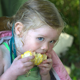 Corn on the Cob by Janet Lyle - Babies & Children Children Candids ( child, children, kids )