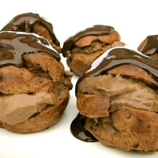 Triple Chocolate Cream Puffs